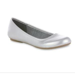 Dr. Scholl's Memory Foam Silver Ballet Flats